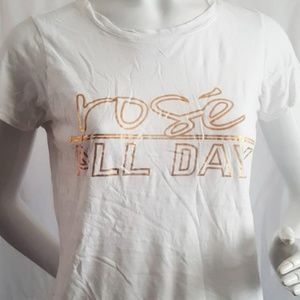 Michael Stars Rose All Day Cotton White Tee S